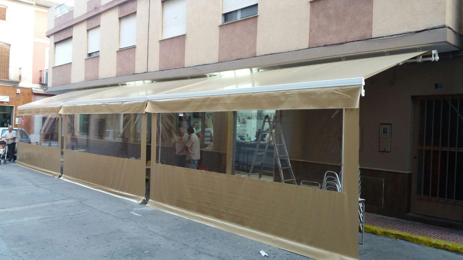 Confeccion Cenadores Para Terrazas Bar Toldos De Lona